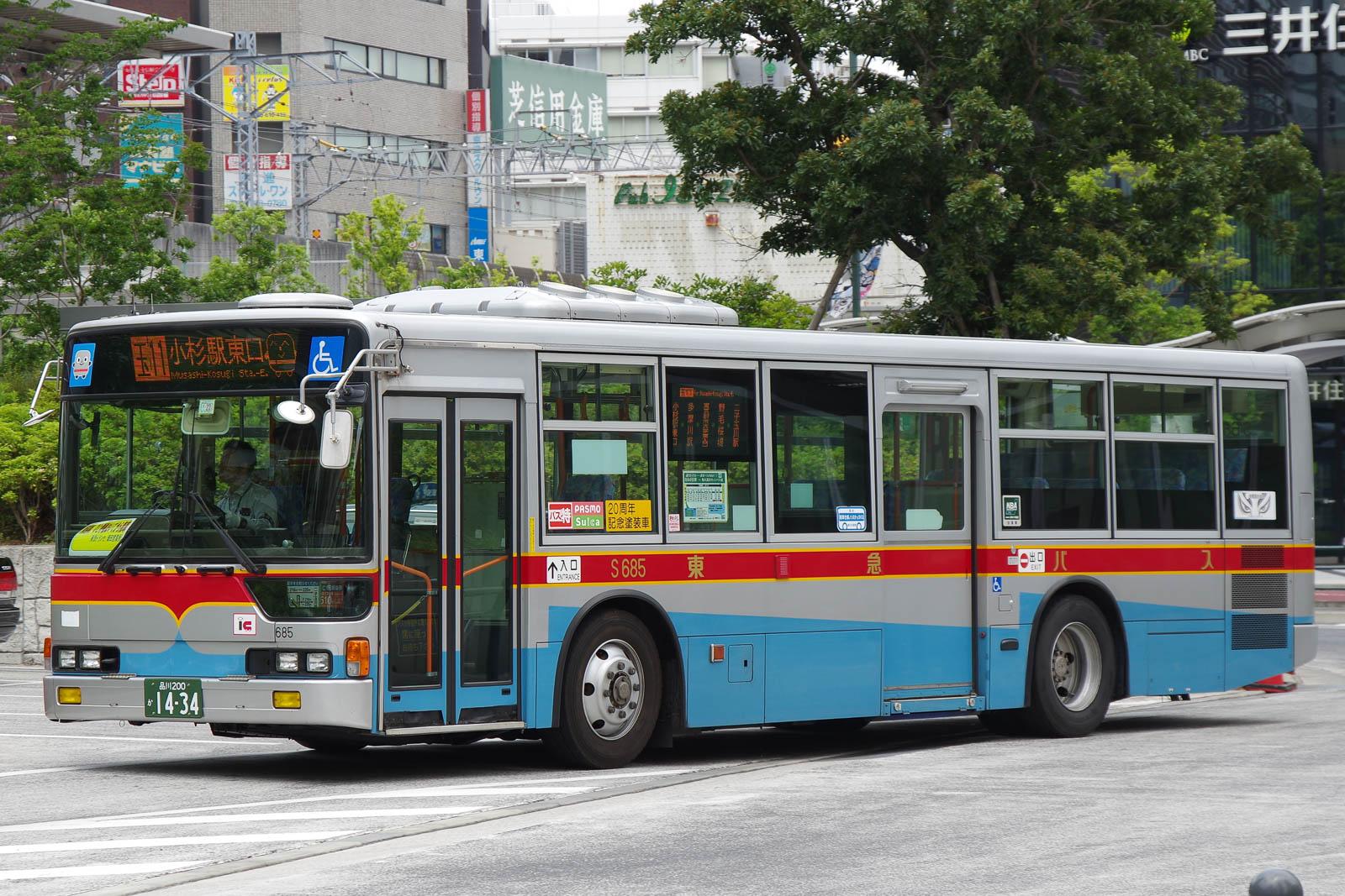 東急バス S685   路線バス車両ア...