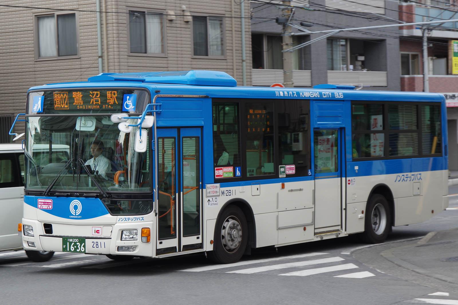 川崎市バス M-2811   路線バス車...