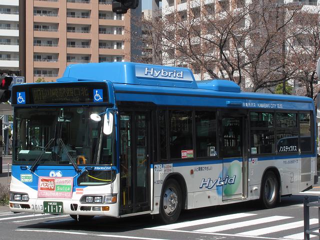 川崎市バス H-3013 | 路線バス車...