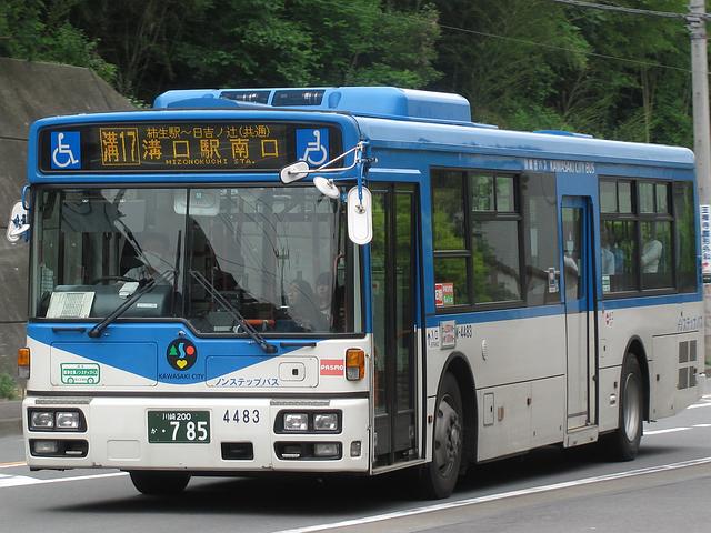 川崎市バス W-4483 | 路線バス車...