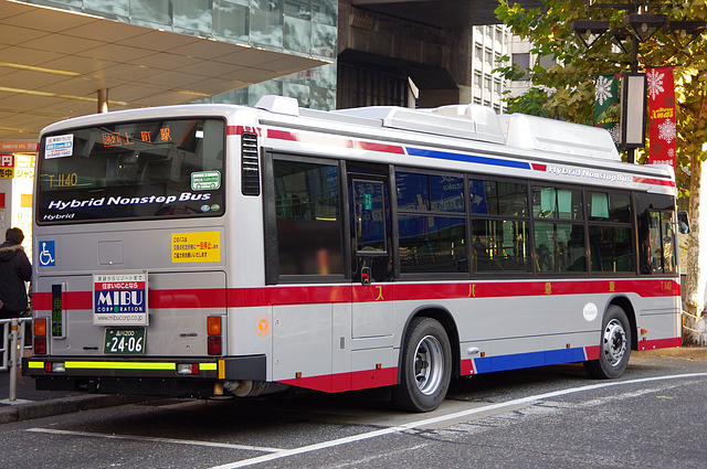 東急バス T1140   路線バス車両...